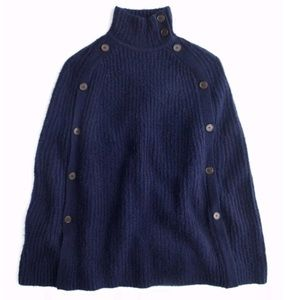 J.Crew Poncho with Button Detail